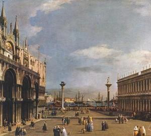 Piazzetta, Antonio Canaletto – description