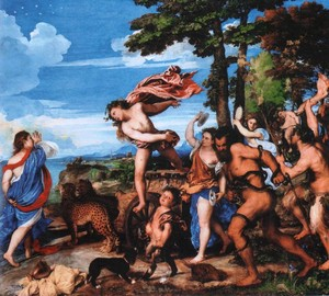 Painting Bacchus and Ariadne, Titian Vecellio