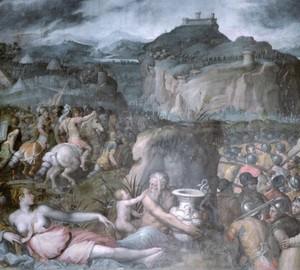 The Siege of San Leo, Giorgio Vasari