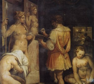 Artist's Studio, Giorgio Vasari – Description