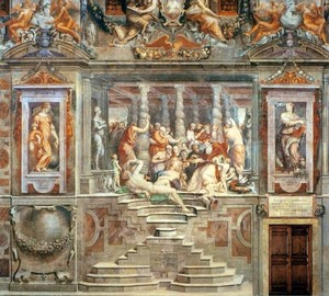 """Paul III Farnese calls the names of the cardinals and hands out Benefices,"" Giorgio Vasari"
