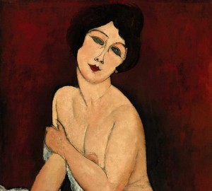 """Naked sitting on the couch"", Amedeo Modigliani – description of the painting"
