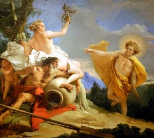 """Apollo Pursuing Daphne"", Tiepolo – description of the painting"