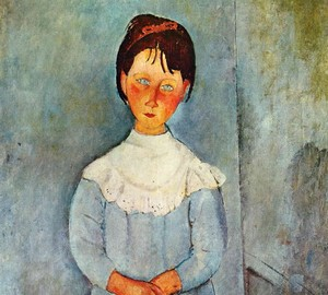 """Girl in blue"", Amedeo Modigliani – description of the painting"