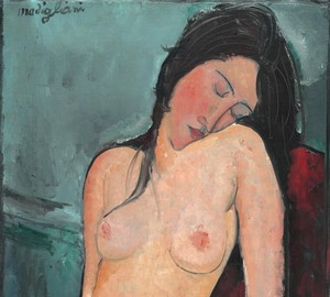 """Sitting Nude"", Amedeo Modigliani – description of the painting"