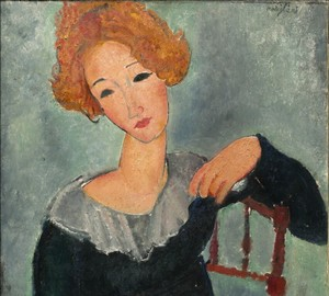 """Red-haired woman"", Amedeo Modigliani – description of the painting"