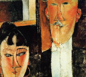 """Bride and Groom (Couple)"", Amedeo Modigliani – description of the painting"