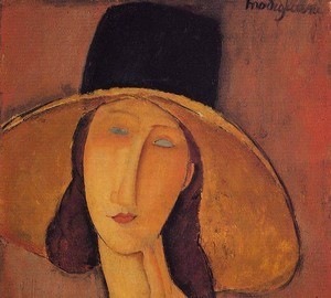"""Portrait of Jeanne Hébuterne in a big hat"", Amedeo Modigliani – description of the painting"