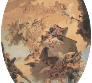 """Transfer of Maria's house from Nazareth to Loreto"", Tiepolo – description of the painting"