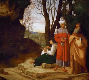 """Three philosophers"", Giorgione – description of the painting"