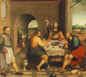 """Dinner at Emmaus"", Jacopo Bassano – description of the painting"