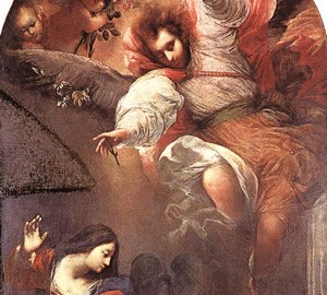 The Annunciation, Sebastiano Mazzoni