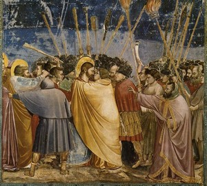 """Kiss of Judas (Taking Christ into custody)"", Giotto di Bondone – description of the painting"