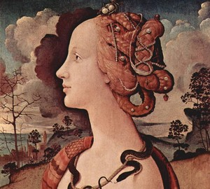 Portrait of Simonetta Vespucci, Piero di Cosimo – description