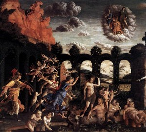 Pallas expelling vices from the garden of virtues, Andrea Mantegna