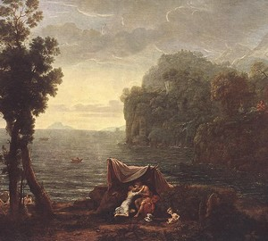 Landscape with Acis and Galatea, Claude Lorren, 1657