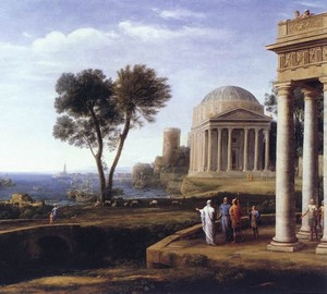 Landscape with Aeneas on Delos, Claude Lorren, 1672