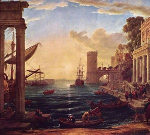 Departure of the Queen of Sheba, Claude Lorrain, 1648