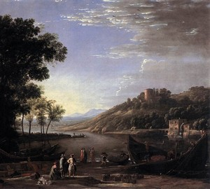 Landscape with merchants, Claude Lorren – description of the painting