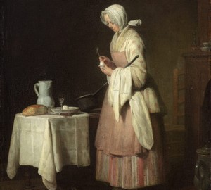 """Caring nanny"", Jean Baptiste Simeon Chardin – description of the painting"