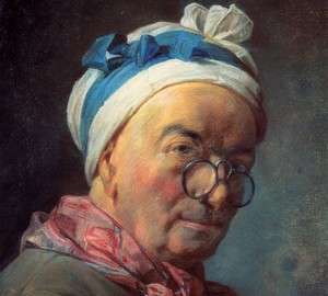 """Self-portrait in pince-nez"", Jean Baptiste Simeon Chardin – description of the painting"