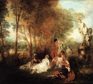 Feast of Love, Antoine Watteau, 1717