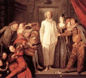 Italian Comedians, Jean Antoine Watteau, 1720