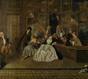Sign of Gersin's shop, Antoine Watteau – description of the painting