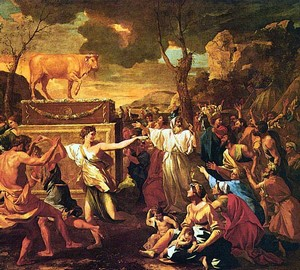 Adoration of the Golden Calf – Nicolas Poussin