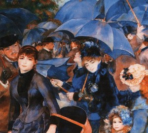 Painting Umbrellas, Renoir
