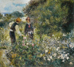 Picking Flowers, Pierre-Auguste Renoir, 1875