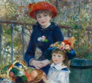 On the Terrace or Two Sisters, Renoir, 1881