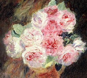 Roses in the works of Renoir