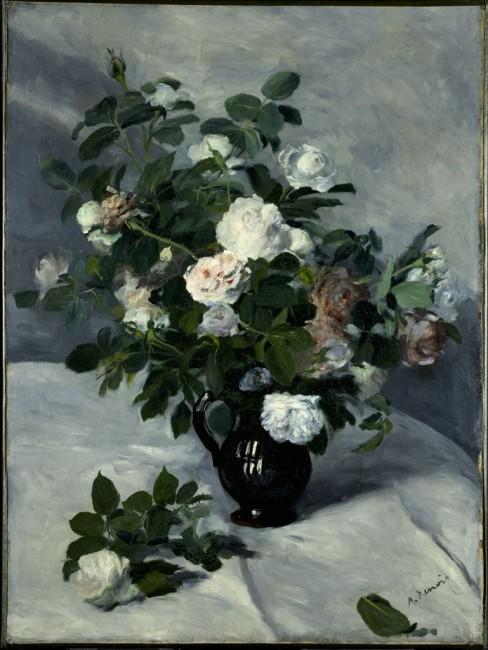 Roses in the works of Renoir