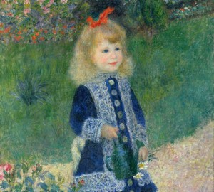 Girl with a watering can, Pierre-Auguste Renoir – description