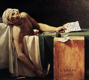 The death of Marat, Jacques-Louis David – description of the painting