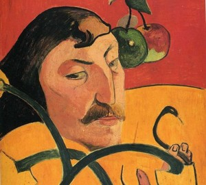 Self-portrait-grotesque, Paul Gauguin, 1889