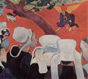 Vision after the Sermon (James's Struggle with the Angel) – Paul Gauguin