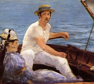 In the boat, Edouard Manet, 1874