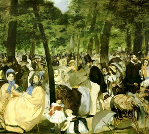 Music at the Tuileries, Edouard Mans, 1862