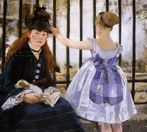 Railway (Saint-Lazare Station), Eduard Manet – description of the painting