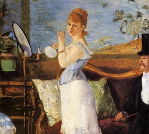 Painting by Nana, Edouard Manet – description