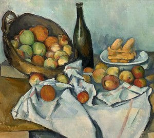 """Still life with a basket of apples"", Paul Cezanne – description of the painting"