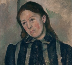 """""""Madame Cezanne with her hair loose"""", Paul Cezanne – description of the painting"""