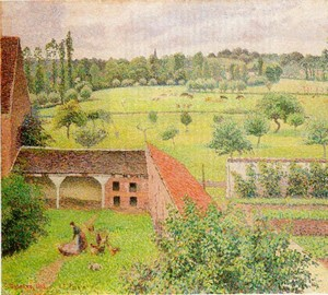The view from my window, Camille Pissarro, 1886