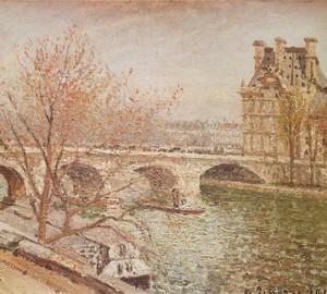 Pont Royal and Flower Pavilion, Pissarro, 1903