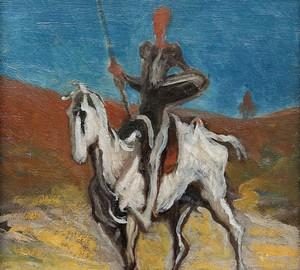 Don Quixote, Honore Daumier – description of the painting