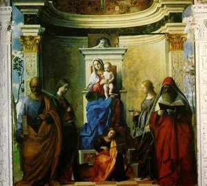 Madonna and Child with Saints, Giovanni Bellini, 1505