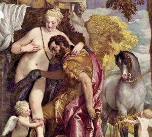 Mars and Venus related by love, Paolo Veronese