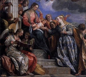 The betrothal of St. Catherine, Paolo Veronese